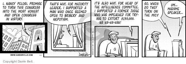 Comic Strip Darrin Bell  Candorville 2006-12-02 impeachment