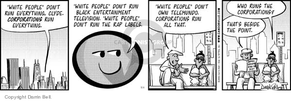 Comic Strip Darrin Bell  Candorville 2006-12-06 segregation