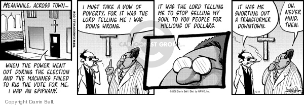 Comic Strip Darrin Bell  Candorville 2006-12-14 election