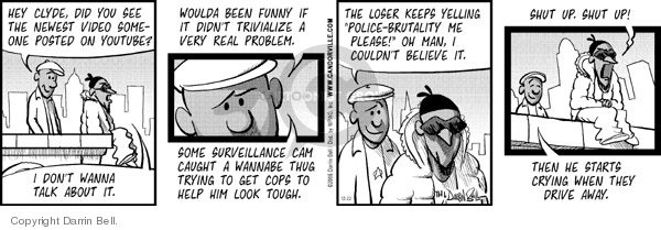 Comic Strip Darrin Bell  Candorville 2006-12-22 internet surveillance