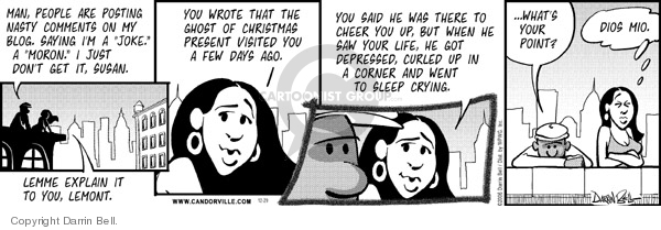 Cartoonist Darrin Bell  Candorville 2006-12-29 point