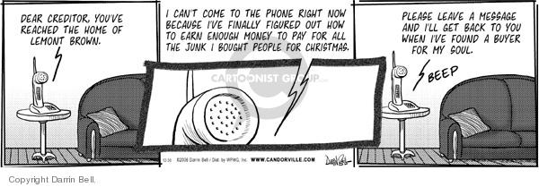 Comic Strip Darrin Bell  Candorville 2006-12-30 spend money