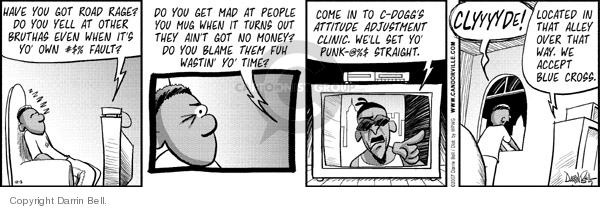 Comic Strip Darrin Bell  Candorville 2007-10-03 rage