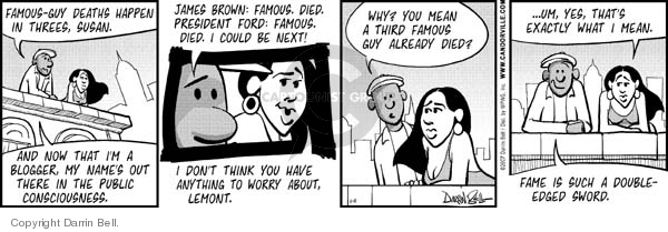 Comic Strip Darrin Bell  Candorville 2007-01-11 egotistical