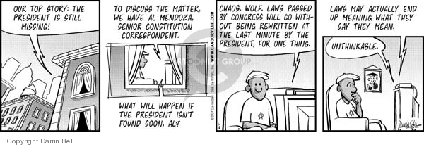 Comic Strip Darrin Bell  Candorville 2007-01-18 separation of powers