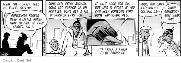 Comic Strip Darrin Bell  Candorville 2007-01-23 alcohol