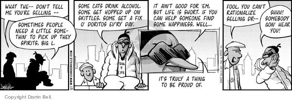 Comic Strip Darrin Bell  Candorville 2007-01-23 drink up