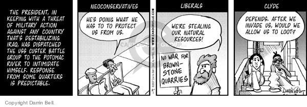 Comic Strip Darrin Bell  Candorville 2007-02-01 Homeland Security
