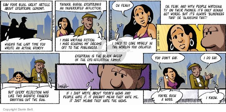 Comic Strip Darrin Bell  Candorville 2007-02-11 writer