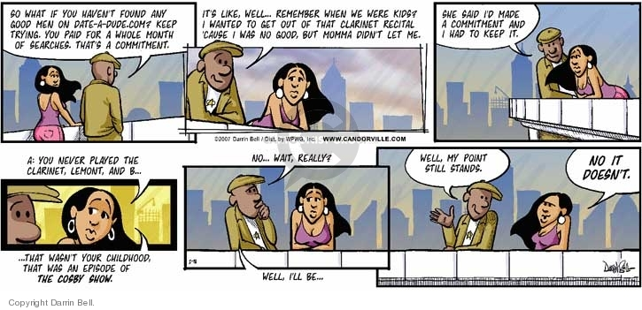 Comic Strip Darrin Bell  Candorville 2007-02-18 reality