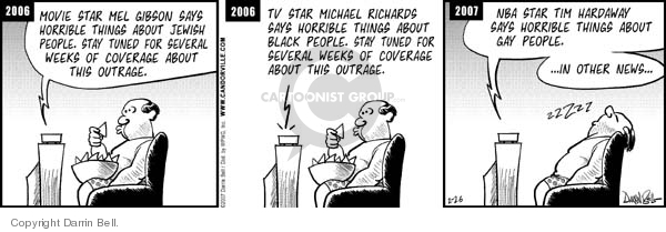 Comic Strip Darrin Bell  Candorville 2007-02-26 media coverage