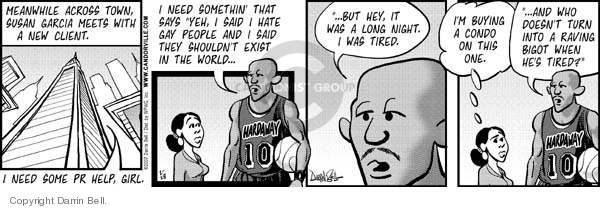 Comic Strip Darrin Bell  Candorville 2007-02-28 basketball