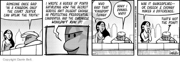 Comic Strip Darrin Bell  Candorville 2007-03-17 writer