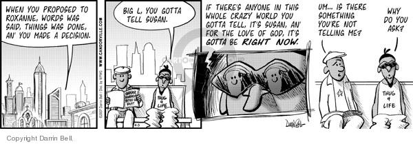 Cartoonist Darrin Bell  Candorville 2007-04-03 big word