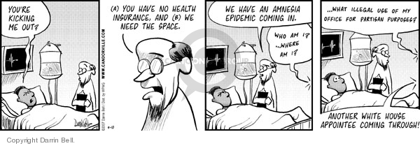 Cartoonist Darrin Bell  Candorville 2007-04-10 medical insurance