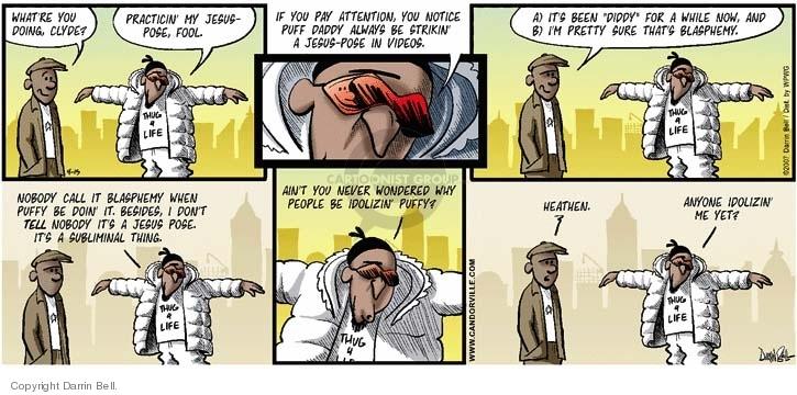 Cartoonist Darrin Bell  Candorville 2007-04-15 profane