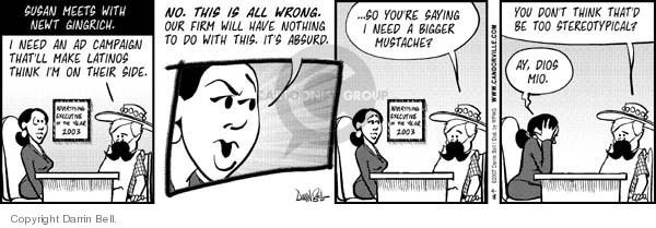 Comic Strip Darrin Bell  Candorville 2007-04-18 Newt Gingrich