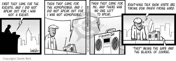Cartoonist Darrin Bell  Candorville 2007-04-24 talk radio