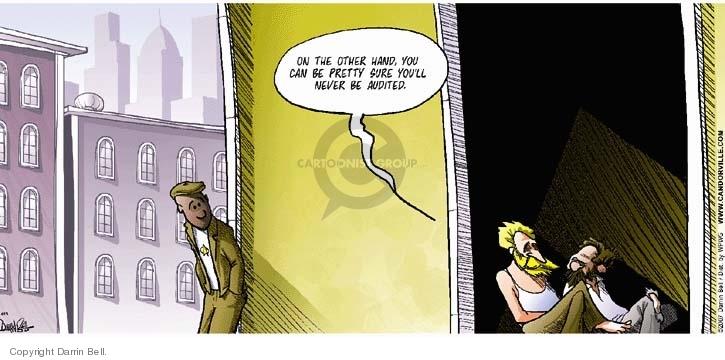 Comic Strip Darrin Bell  Candorville 2007-04-29 tax audit
