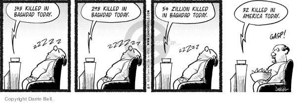 Comic Strip Darrin Bell  Candorville 2007-04-30 school shooting