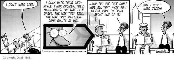 Comic Strip Darrin Bell  Candorville 2007-05-14 homophobic