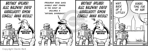 Cartoonist Darrin Bell  Candorville 2007-06-04 wait