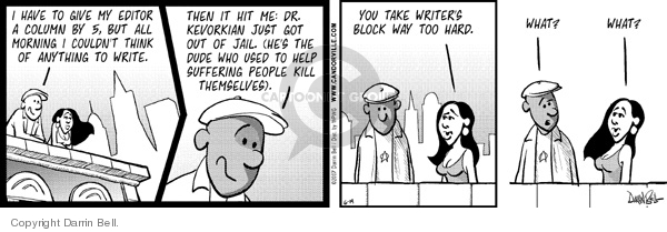 Comic Strip Darrin Bell  Candorville 2007-06-19 hit