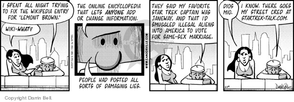 Comic Strip Darrin Bell  Candorville 2007-06-29 credibility