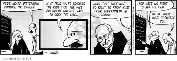 Comic Strip Darrin Bell  Candorville 2007-07-06 Dick Cheney