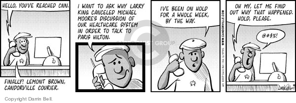 Comic Strip Darrin Bell  Candorville 2007-07-09 coverage