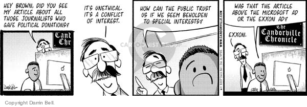 Comic Strip Darrin Bell  Candorville 2007-07-16 unethical