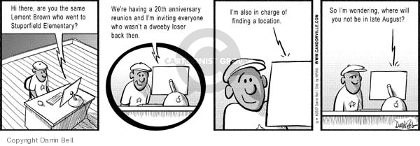 Comic Strip Darrin Bell  Candorville 2007-07-17 exclusion