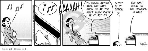 Comic Strip Darrin Bell  Candorville 2007-07-25 desk