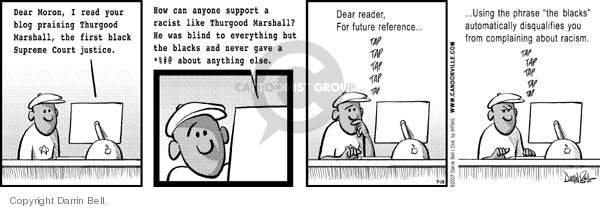 Comic Strip Darrin Bell  Candorville 2007-07-28 ethnic rights