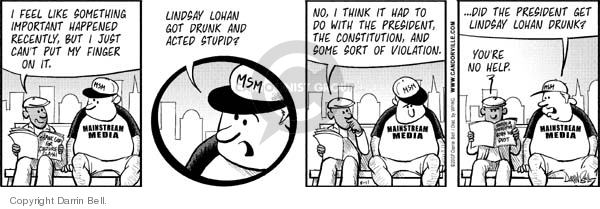 Comic Strip Darrin Bell  Candorville 2007-08-11 fourth amendment