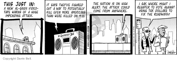 Comic Strip Darrin Bell  Candorville 2007-08-13 2001