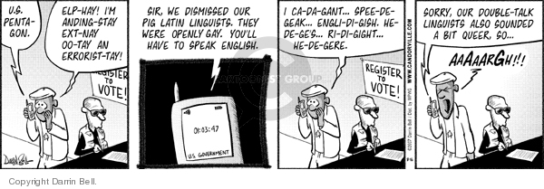 Comic Strip Darrin Bell  Candorville 2007-08-16 linguistics
