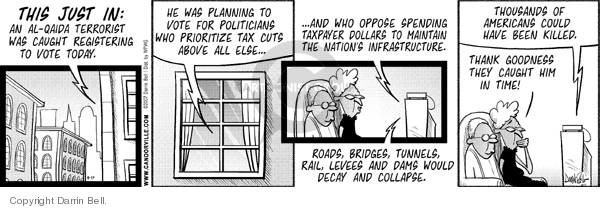 Comic Strip Darrin Bell  Candorville 2007-08-17 tax cut
