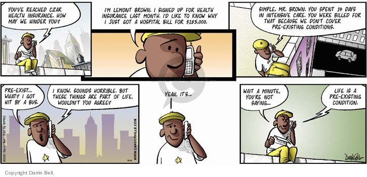 Comic Strip Darrin Bell  Candorville 2007-08-19 health insurance
