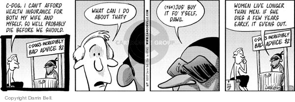 Comic Strip Darrin Bell  Candorville 2007-08-28 health insurance