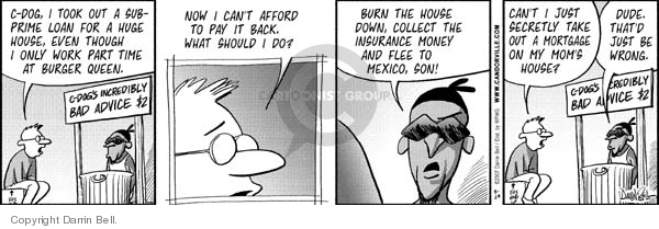 Comic Strip Darrin Bell  Candorville 2007-08-29 financial counselor
