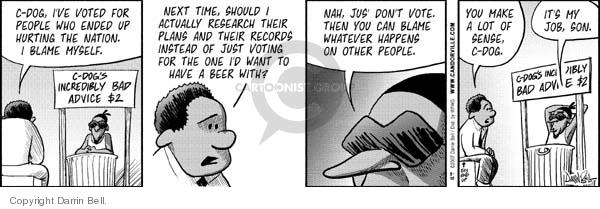 Comic Strip Darrin Bell  Candorville 2007-08-30 bad advice