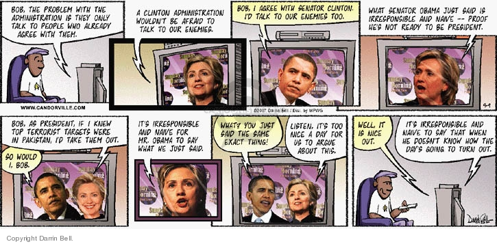 Comic Strip Darrin Bell  Candorville 2007-09-09 election