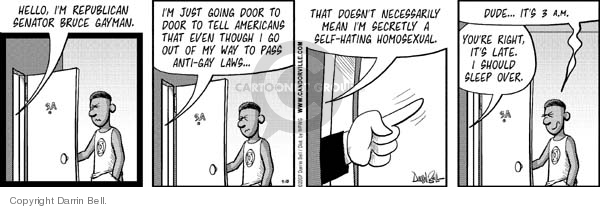 Comic Strip Darrin Bell  Candorville 2007-09-10 homosexuality