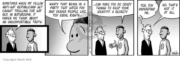Comic Strip Darrin Bell  Candorville 2007-09-13 disguise