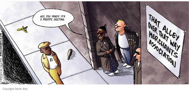 Comic Strip Darrin Bell  Candorville 2007-09-16 alley way