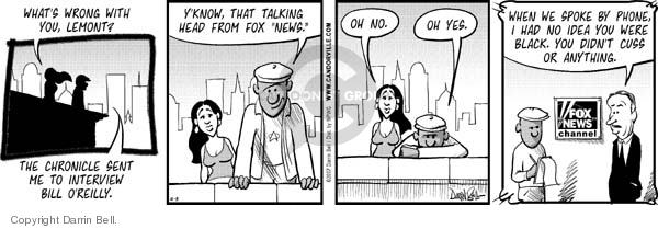 Comic Strip Darrin Bell  Candorville 2007-10-08 reluctant