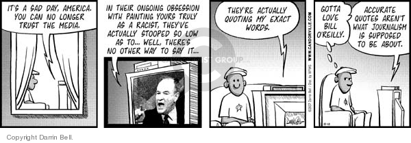 Comic Strip Darrin Bell  Candorville 2007-10-10 Fox News