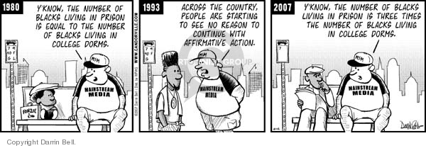 Comic Strip Darrin Bell  Candorville 2007-10-12 Affirmative Action