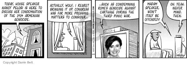 Comic Strip Darrin Bell  Candorville 2007-10-29 congresswoman